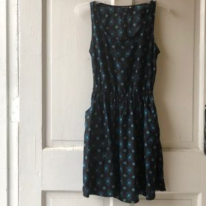 Casual blue and black dress